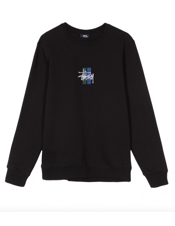 2 Bar Stock Applique Crewneck