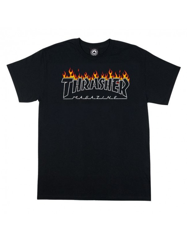 Thrasher Scorched Outline Tee